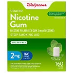Walgreens Coated Nicotine Gum 2mg, Mint- 160 ea