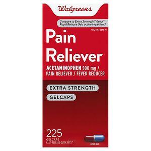 Walgreens Pain Reliever Quick Gels, 225 ea