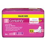 Walgreens Certainty Pads for Women, Maximum Long, Large- 64 ea