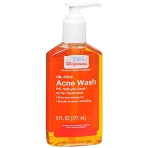 Walgreens Acne Wash, Oil Free, 6 fl oz