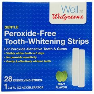Walgreens Peroxide-Free Tooth-Whitening Strips Kit- 28 ea