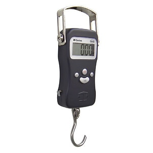 American Weigh Portable Hanging Luggage Scale, Built-In Tape Measure H-110, Black
