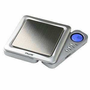 American Weigh BLADE Ultraslim SS Pocket Scale, Back-Lit LCD Screen BLADE-650, Silver, 1 ea
