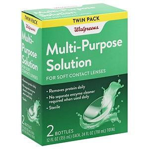 Walgreens Multi-Purpose Contact Lens Solution, 2 ea