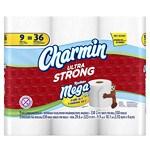 Charmin Ultra Strong Toilet Paper Mega Rolls- 9 ea