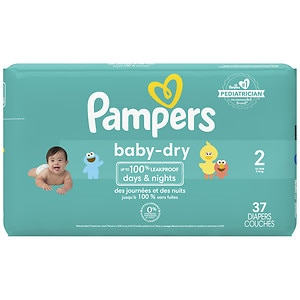 Pampers Baby Dry Diapers Size 2 Jumbo Pack