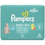 Pampers Baby Dry Diapers Size 3 Jumbo Pack- 32 ea