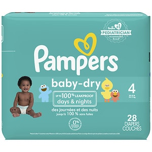 Pampers Baby Dry Diapers Size 4 Jumbo Pack