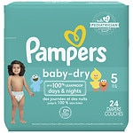 Pampers Baby Dry Diapers Size 5 Jumbo Pack- 24 ea
