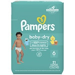 Pampers Baby Dry Diapers Size 6 Jumbo Pack- 21 ea