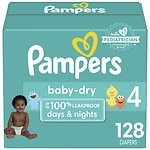 Pampers Baby Dry Diapers Size 4 Giant Pack