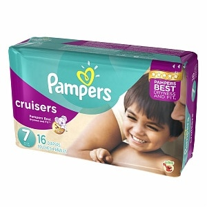 Pampers Cruisers Diapers Size 7 Jumbo Pack- 16 ea