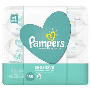 Pampers Sensitive Wipes Travel Packs , 3 pk