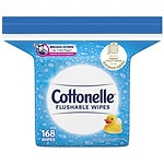 Cottonelle Fresh Care Flushable Moist Wipes Refill- 168 ea