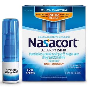 Nasacort Allergy 24 Hour Spray , 120 Sprays- .57 fl oz