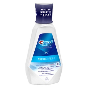 Crest 3D White Arctic Fresh Multi-Care Whitening Rinse, Icy Cool Mint, 16 fl oz (037000840190)