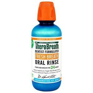 TheraBreath Fresh Breath Oral Rinse, Invigorating Icy Mint- 16 oz