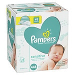 Pampers Sensitive Wipes Refill Packs, 7 pk- 64 ea