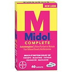 Midol Complete Pain Reliever Maximum Strength, Caplets- 40 ea