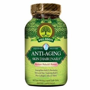 Well Roots Anti-Aging Skin Hair Nails, Softgels- 60 ea