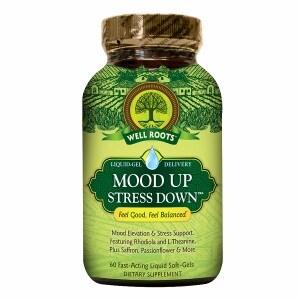 Well Roots Mood Up Stress Down, Softgels- 60 ea