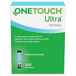OneTouch Ultra Blue Test Strips- 100 ea