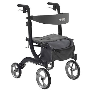 Drive Medical Nitro Euro Style Rollator Walker, Black, 1 ea