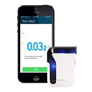 BACtrack Mobile Smartphone Breathalyzer for iPhone and Android Devices, 1 ea