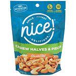 Nice! Cashew Halves & Pieces, Unsalted- 8 oz