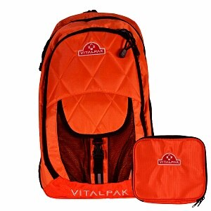 VitalPak Medical Backpack with Removable, Snap-in Essentials Kit, Orange