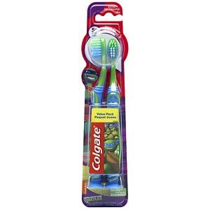 Colgate Kids Teenage Mutant Ninja Turtle Toothbrush, Twin Pack