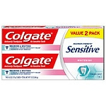 Colgate Sensitive Plus Whitening Toothpaste, 2 pk- 6 oz