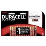 Duracell Quantum Alkaline Batteries, AAA- 12 ea