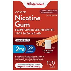 Walgreens Nicotine Replacement Gum 2Mg, Cinnamon- 100 ea