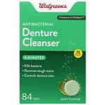 Walgreens Antibacterial 3-Minute Denture Cleanser Tablets, Mint