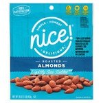 Nice! Almonds, Roasted Lightly Salted with Sea Salt- 16 oz