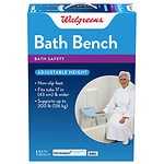 Walgreens Bath Bench with Microban- 1 ea