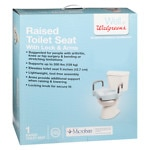 Walgreens Raised Locking Toilet Seat With Arms- 1 ea