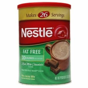 Nestle Hot Cocoa Fat Free Canister, 7.33 oz