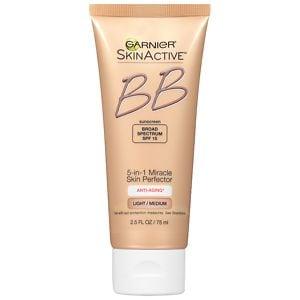Garnier Miracle Skin Perfector Anti-Aging BB Cream, Light/Medium, 2.5 fl oz