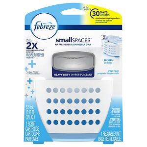 Febreze smallSPACES Heavy Duty Air Freshener, Crisp Clean