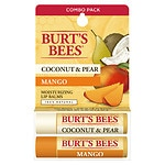 Burt's Bees Lip Balm Blister Box, Coconut & Pear Mango Butter- .15 oz