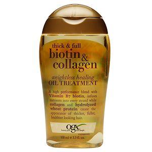 OGX Thick + Full Biotin & Collagen Weightless Healing Oil
