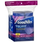 Goodnites Tru-Fit Real Underwear Starter Pack, L/XL, Girls- 7 ea