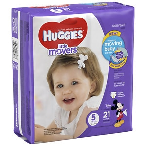 Huggies Little Movers Diapers, Jumbo Pack, Size 5