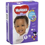 Huggies Little Movers Diapers, Jumbo Pack, Size 6
