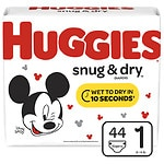 Huggies Snug & Dry Diapers, Jumbo Pack, Size 1- 44 ea