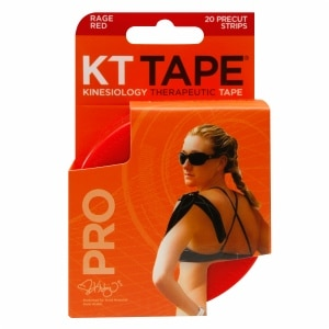 KT Tape Pro Kinesiology Tape, Rage Red- 20 ea