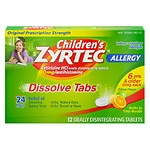 Children's Zyrtec Allergy 24 Hour 10mg Dissolve Tabs, Citrus- 12 ea