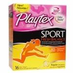 Playtex Sport Fresh Balance Tampons, Regular
